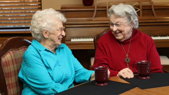Older Women Enjoying Coffee