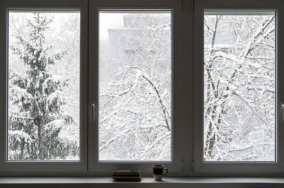 Winter Window Scene