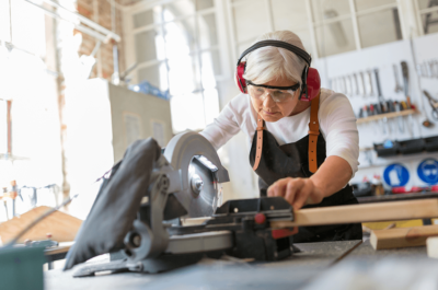 Woman In Woodshop