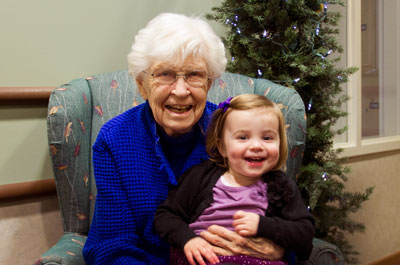 Resident With Her Granddaughter