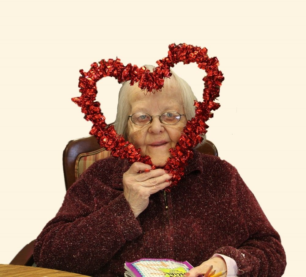 Resident With Valentine Heart